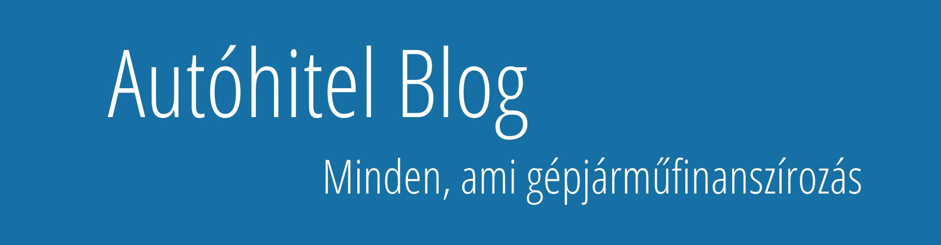 Autóhitel Blog